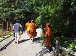 Buddhist Monks enjoying the Zoo.